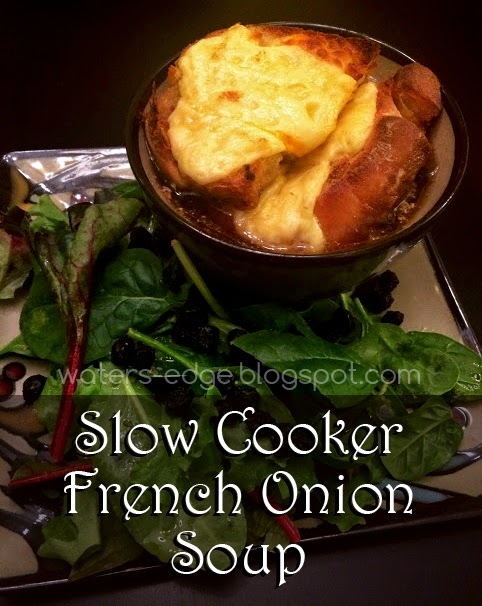 Easy Slow Cooker French Onion Soup in a Crock Pot
