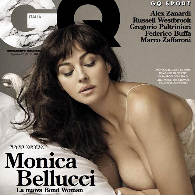 Monica Bellucci hace topless para la revista GQ Italia