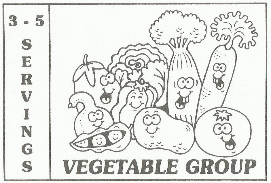 Free Coloring Pages Of Healthy Foods