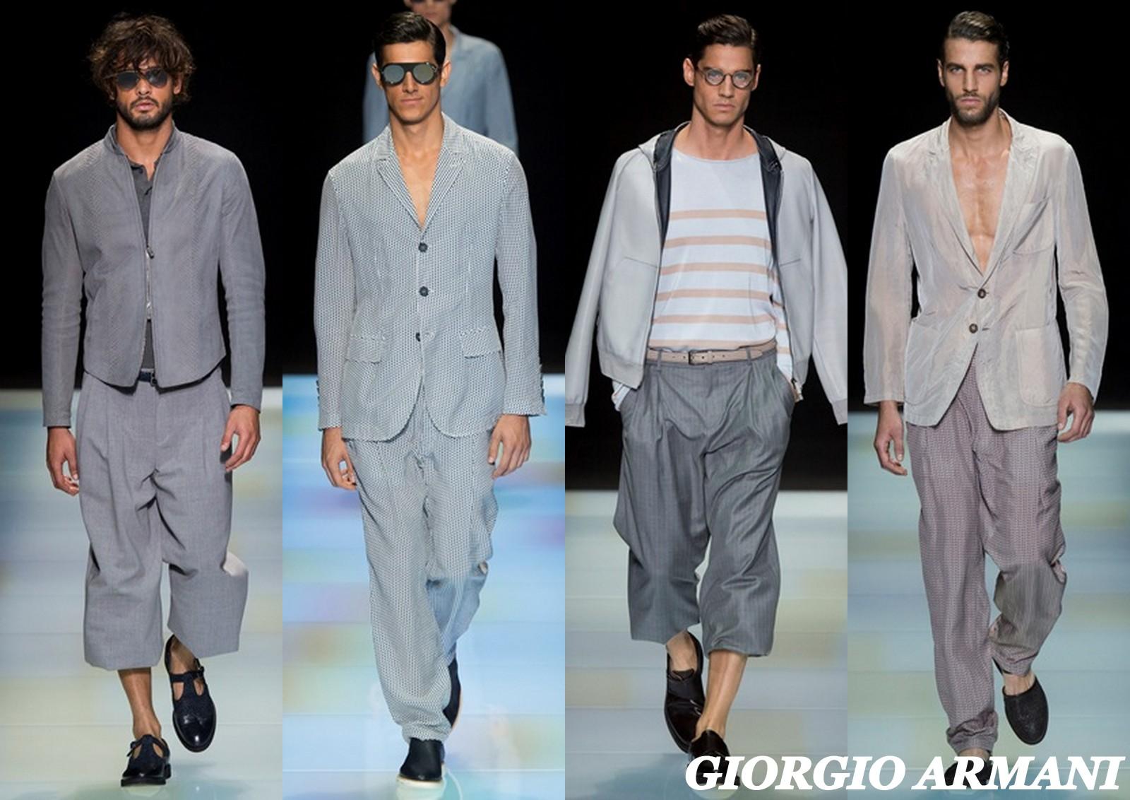 Giorgio Armani SS16 , Menswear , Marlon Texeira , Milan Fashion Week