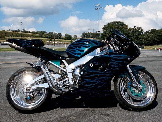 Mumbai Riders  Yamaha R1 Silver Chrome