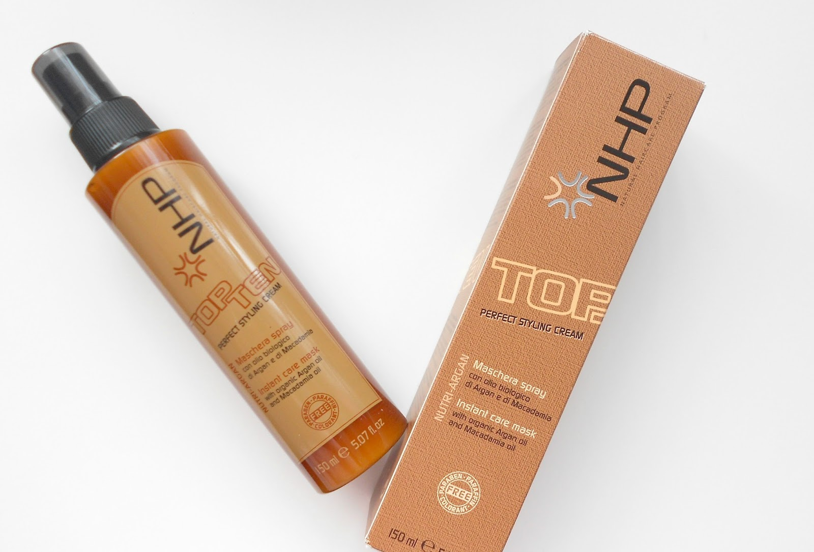 NHP TOP TEN PERFECT STYLING CREAM REVIEW ARGAN OIL MOROCCAN OIL DUPE