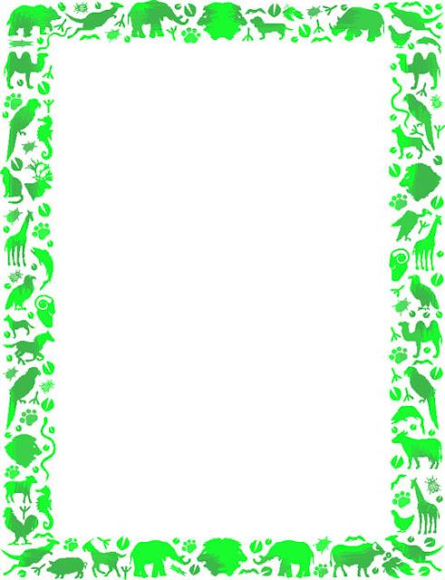 Bordes decorativos bordes decorativos de animales para - Marcos para plantas ...