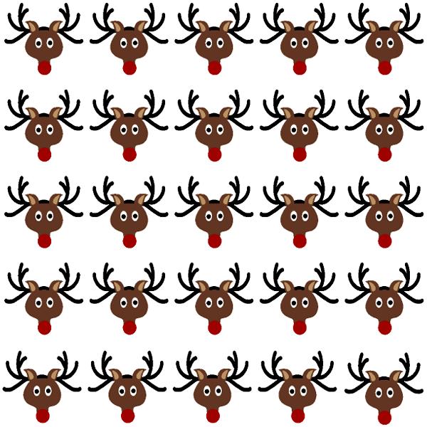 Reindeer face template reindeer head nail art decals
