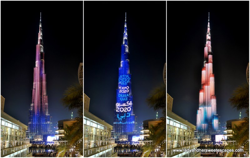 Burj Khalifa LED show collage
