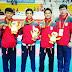 Tim Poomsae Beregu Putera Taekwondo Raih Perak Sea Games 2013