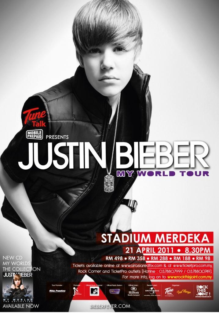 justin bieber 2011 tour. justin bieber tour poster.