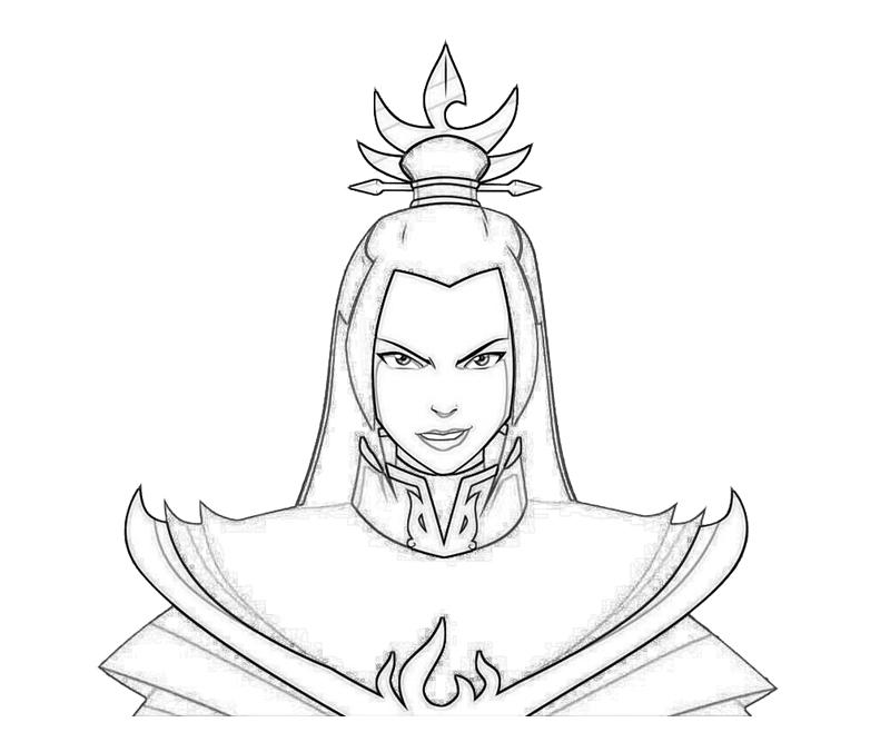 avatar-azula-smile-coloring-pages
