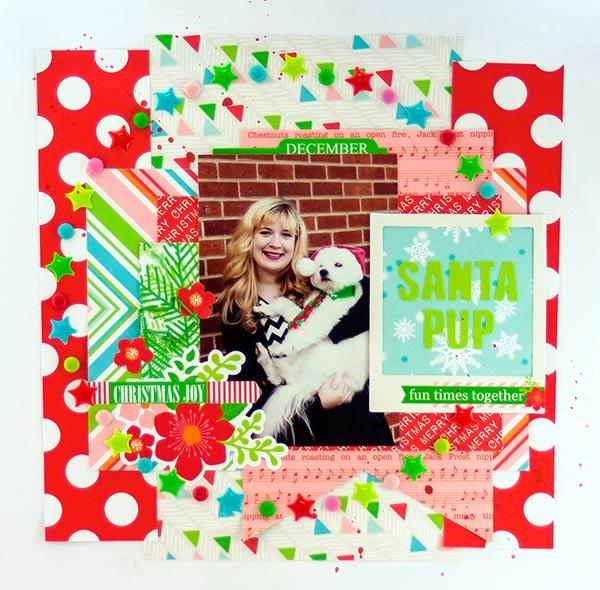 Allie Stewart Chickaniddy Crafts December Layout Sketch