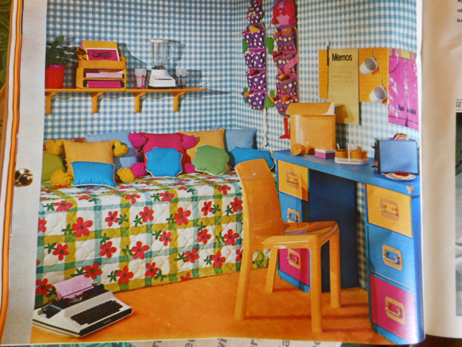 Gold country girls more colorful rooms from seventeen - Complementary colors to pink ...