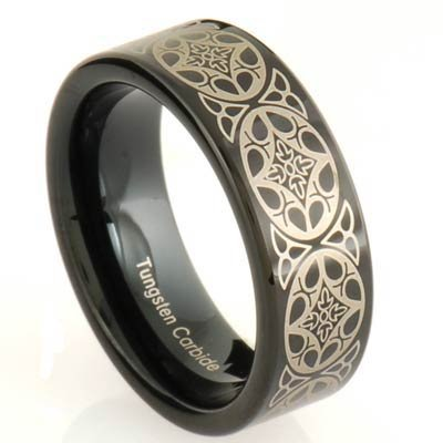 Engagement Ring And Wedding Rings Since 1900 Mens Tungsten Wedding Band Modern Wedding Band