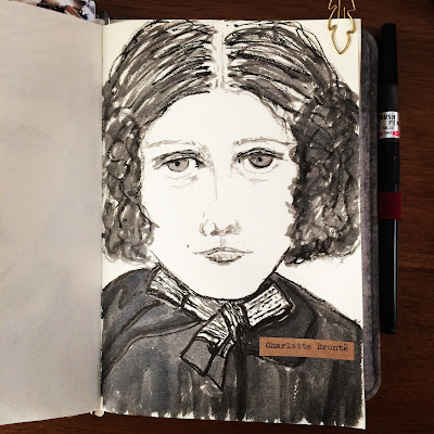 Charlotte Bronte ink drawing