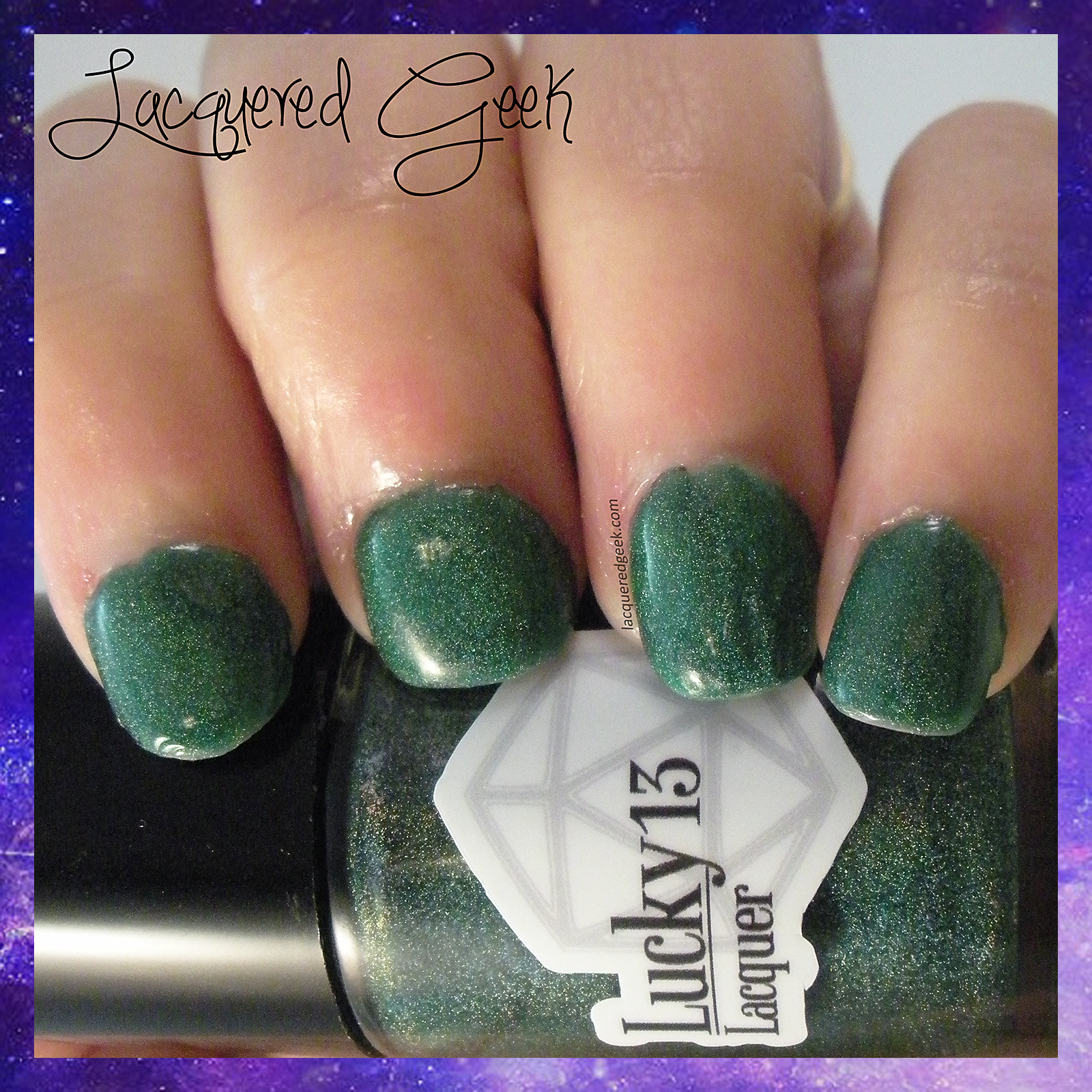 Lucky 13 Lacquer Emerald City swatch