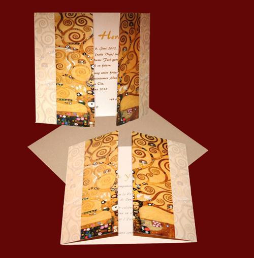 Invitacion boda Klimt