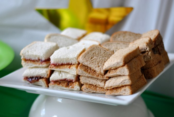 pb+j party sandwiches