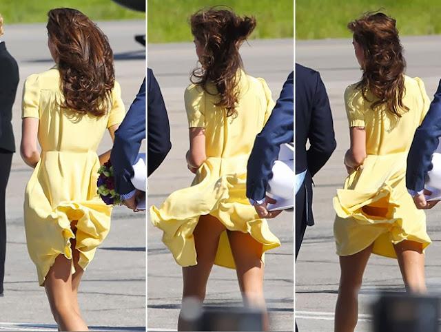 Kate Middleton upskirts and no panties