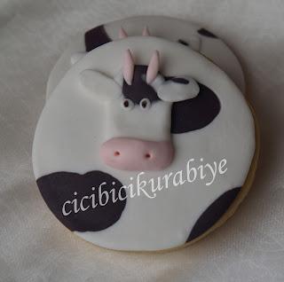 inek şeklinde kurabiye
