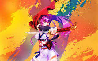 Highschool of the Dead HOTD Saeko Busujima Anime Sexy Girl Samurai Sword Katana HD Wallpaper Desktop Background