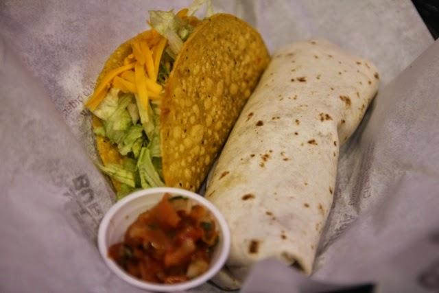 taco bell burrito taco