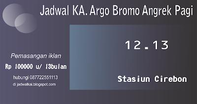 Jadwal Kereta Api Argo Bromo Anggrek pagi dari Stasiun Cirebon