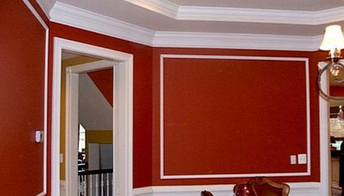 Pintura y madera coloca molduras de forma f cil y sencilla - Moldura madera pared ...