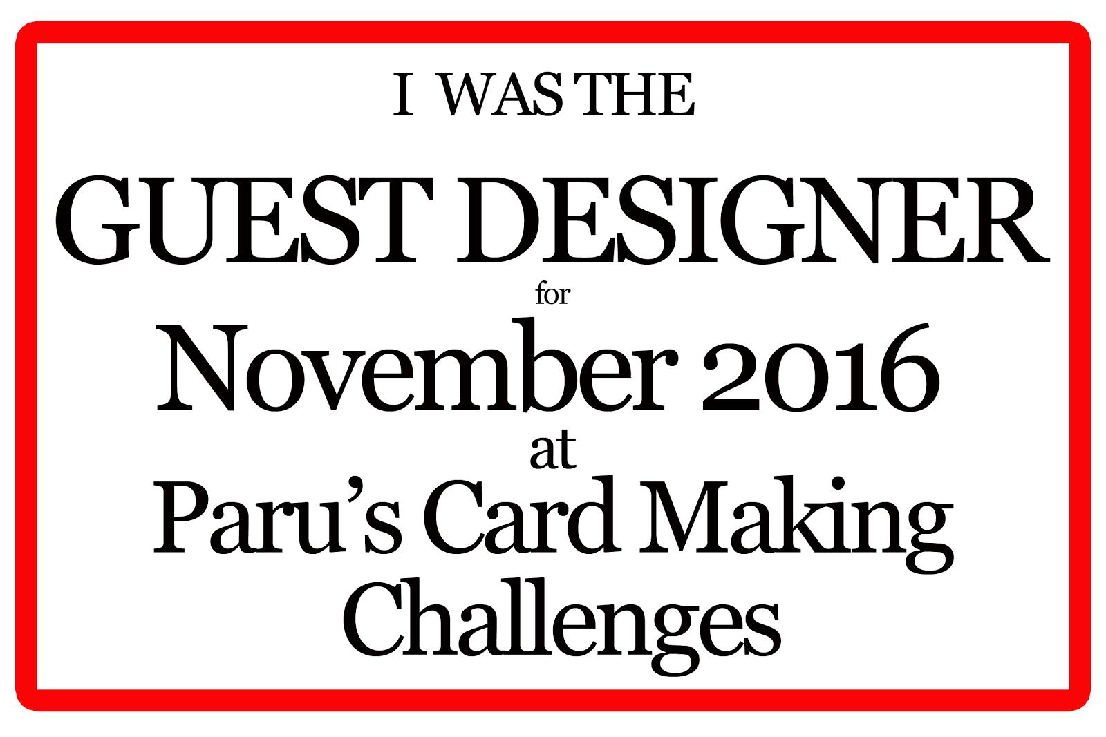 November Guest Designer