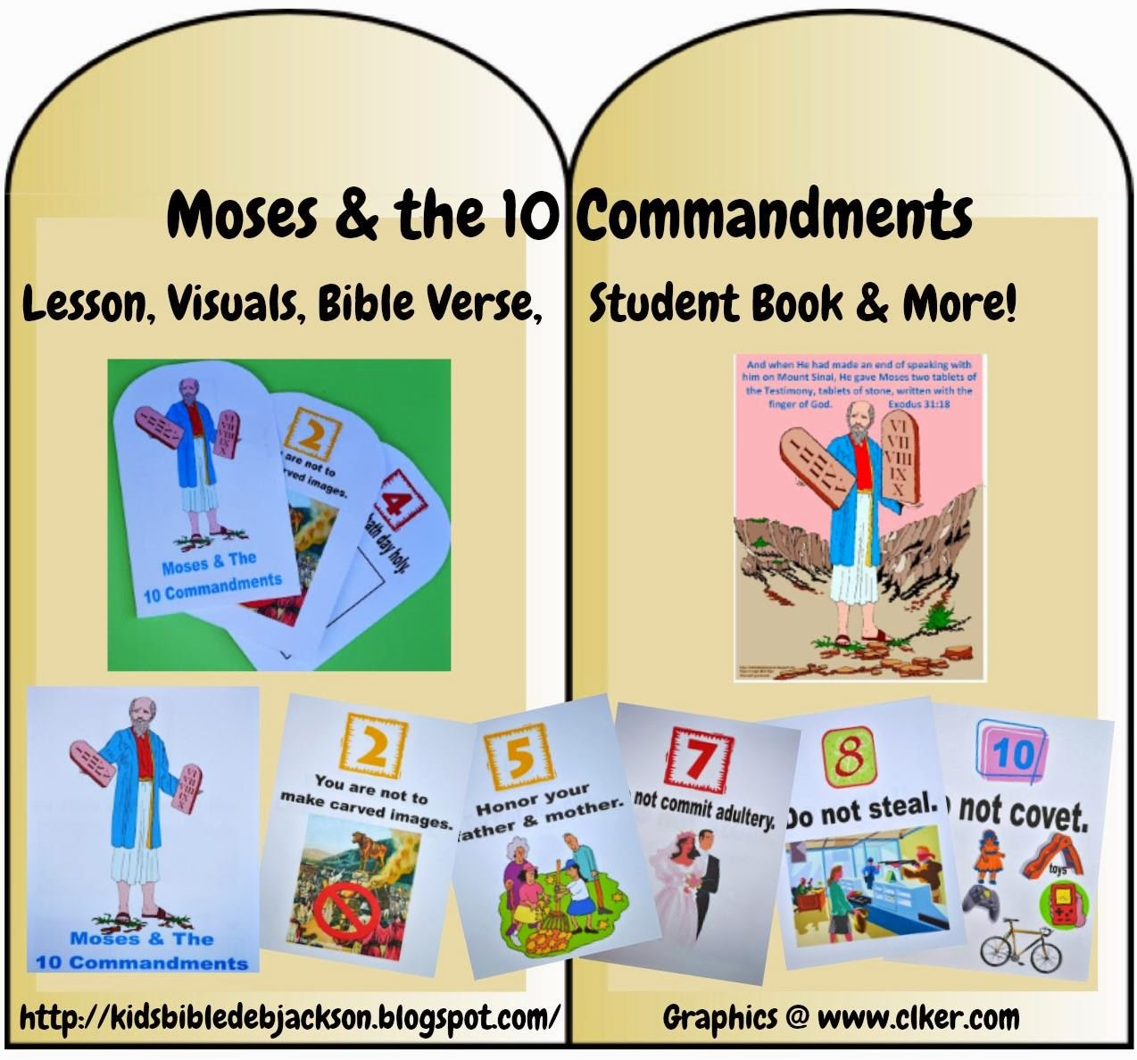 moses ten commandments games for kids