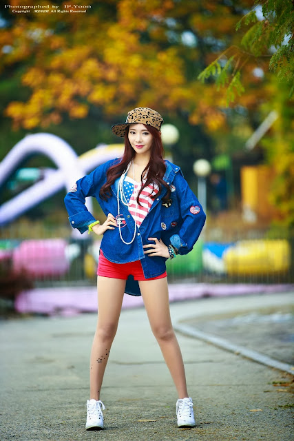 4 Seo Yeon Seo lovely outdoor - very cute asian girl-girlcute4u.blogspot.com