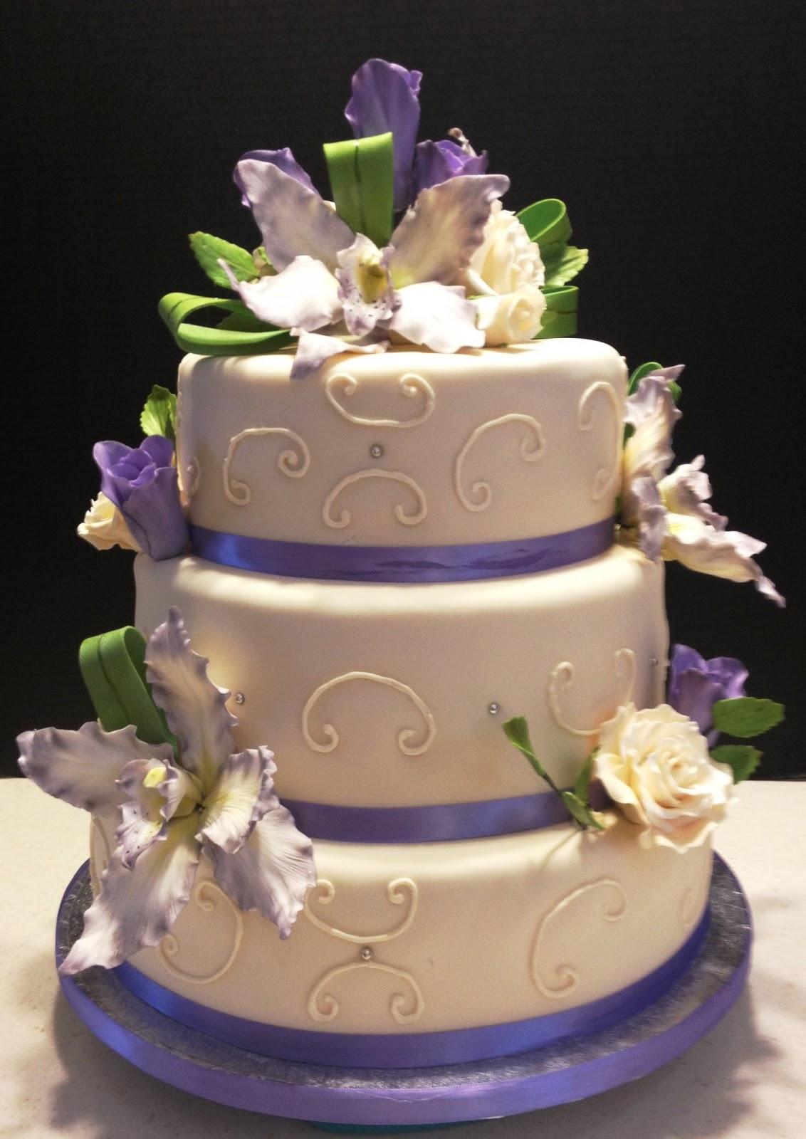 MaryMel Cakes Wedding Cake - Fudge Wedding Cake