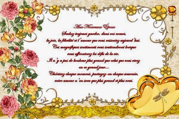 Carte mariage pour féliciter