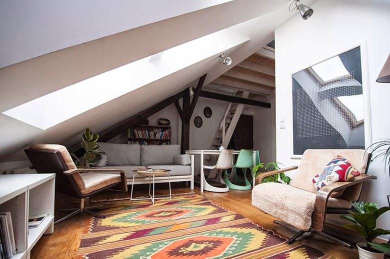 artists apartment, polish design, polish interior
