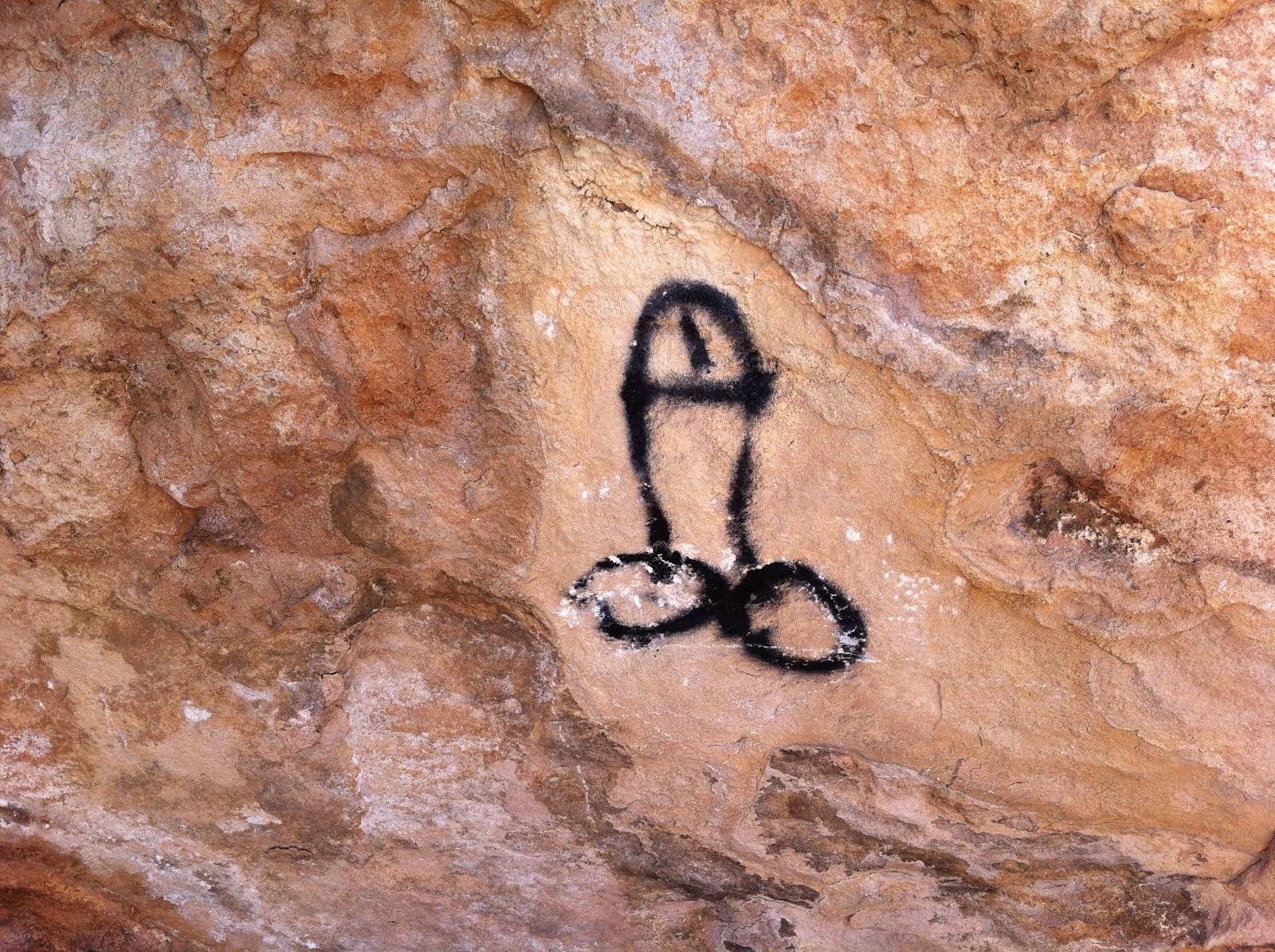 Uralte Höhlenmalereien auf Formentera!