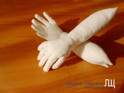 ладошка текстильной куклы процесс создания