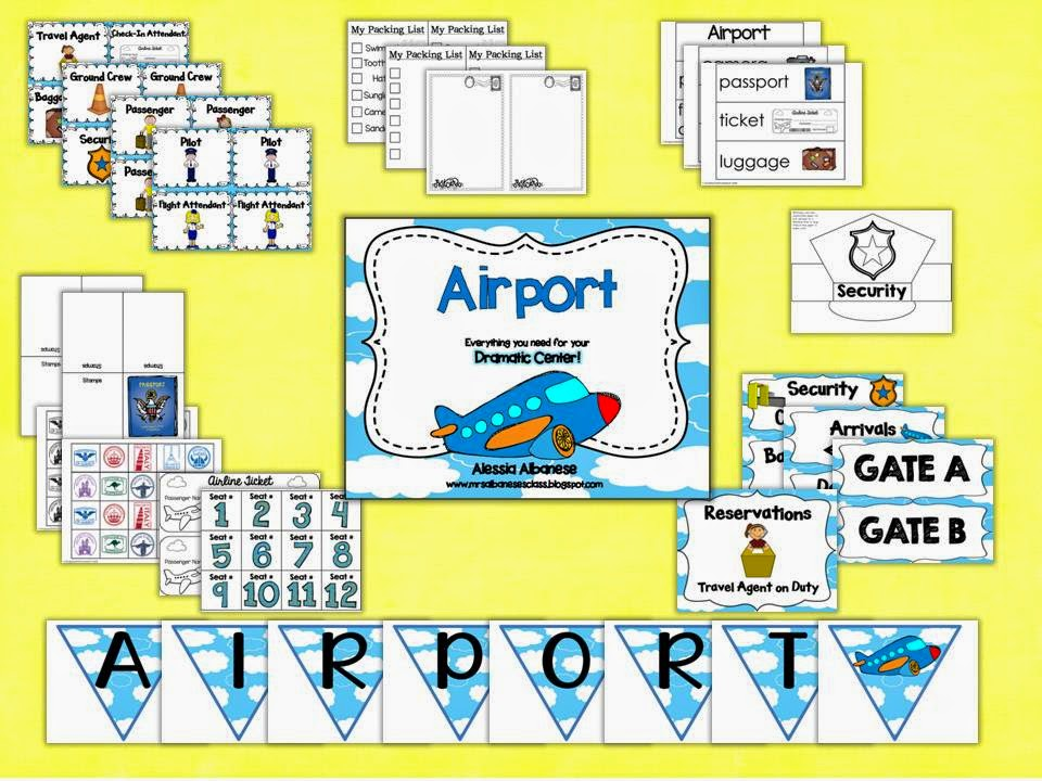 https://www.teacherspayteachers.com/Product/Airport-Dramatic-Play-Center-1426300