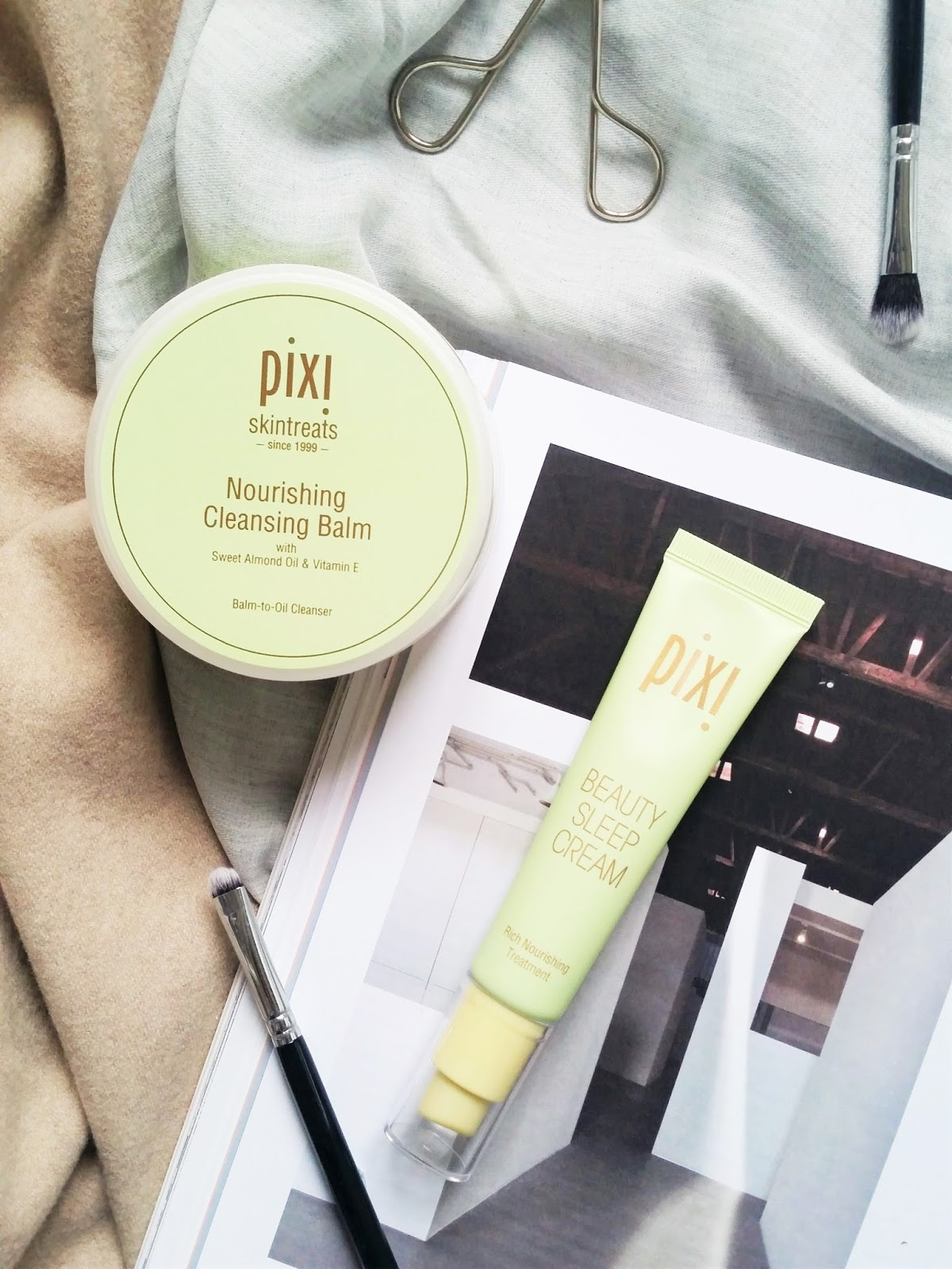 Review of the Pixi Skintreats Nourishing Cleansing Balm and Beauty Sleep Cream