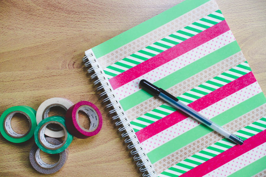 How To Make A Book Cover Without Tape ~ Ink adventure diy washi tape notebook