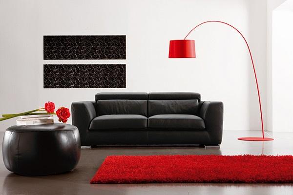 Fotos de salas con sof s de cuero ideas para decorar dise ar y mejorar tu casa - Sofas en piel disenos italianos ...
