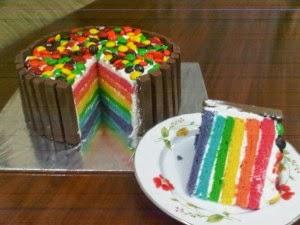 2 Resep Cara Membuat Rainbow Cake Kukus + Panggang Legit Empuk