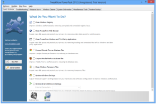 Free Download TweakNow PowerPack 2012 4.2.6 with Serial Key Full Version