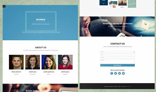 Responsive CSS3 and HTML5 Website Templates