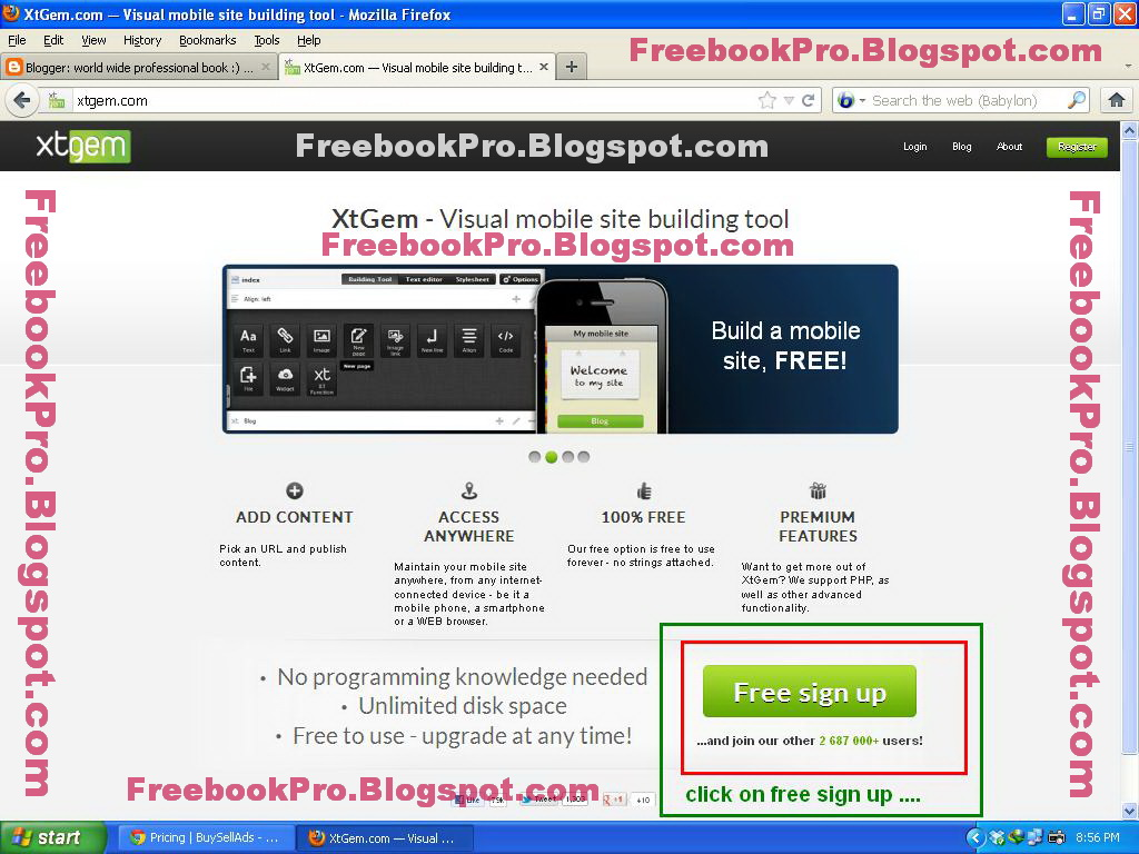 world wide professional book bookpro pot com how to create mobile website how to create mobile wapsite create mobile website