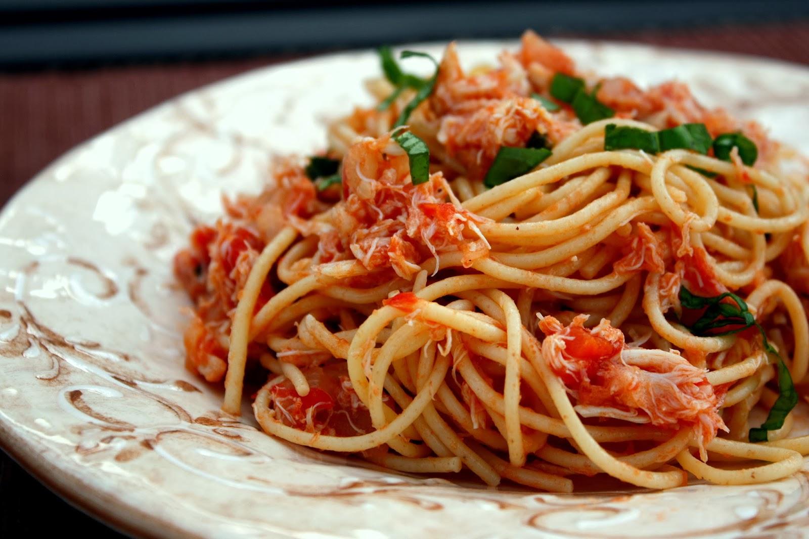 crabmeat pasta...pun suke juge..