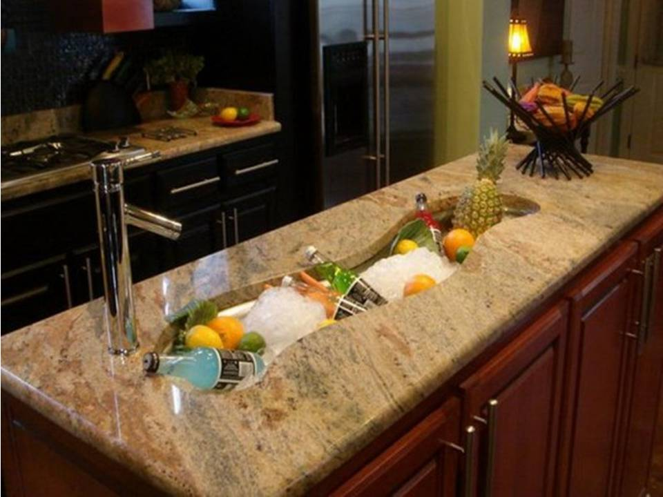 Dwell of decor fantastic kitchen sinks design ideas - Marmoles de cocina ...