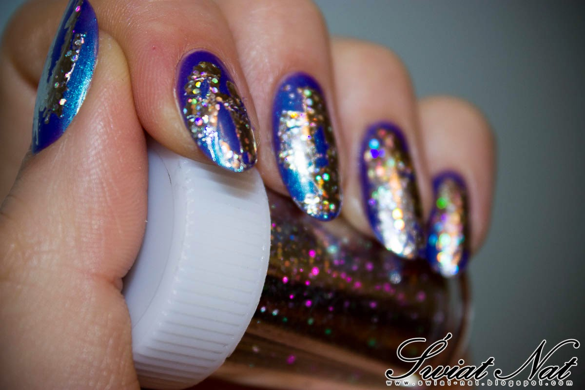 srebrna colour alike paznokcie nailart manicure