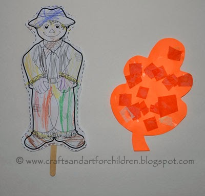 Scarecrow Puppet & Leaf Preschool Crafts