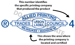 "Description of the Allied Printing Trades Council ""Union Bug"""