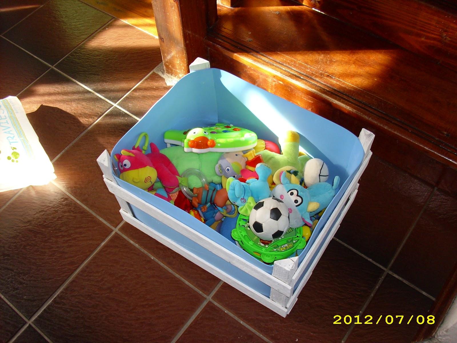 El taller de sof a reciclaje de un caj n de verduras - Cajon para juguetes ...