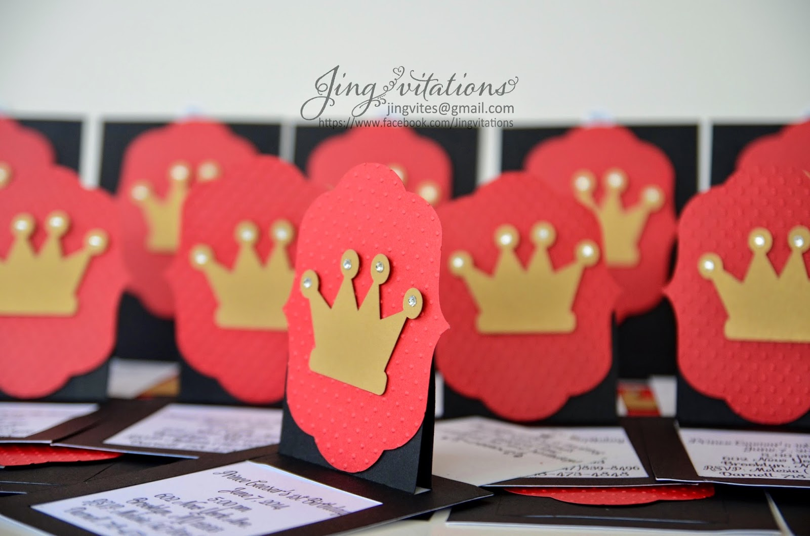Jingvitations: First Birthday Invitations - Crown Design