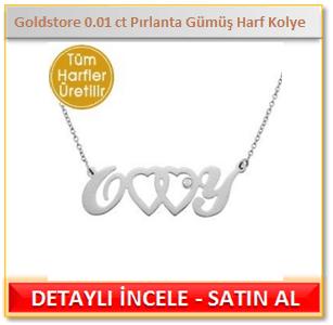 Pırlanta Gümüş Harf Kolye