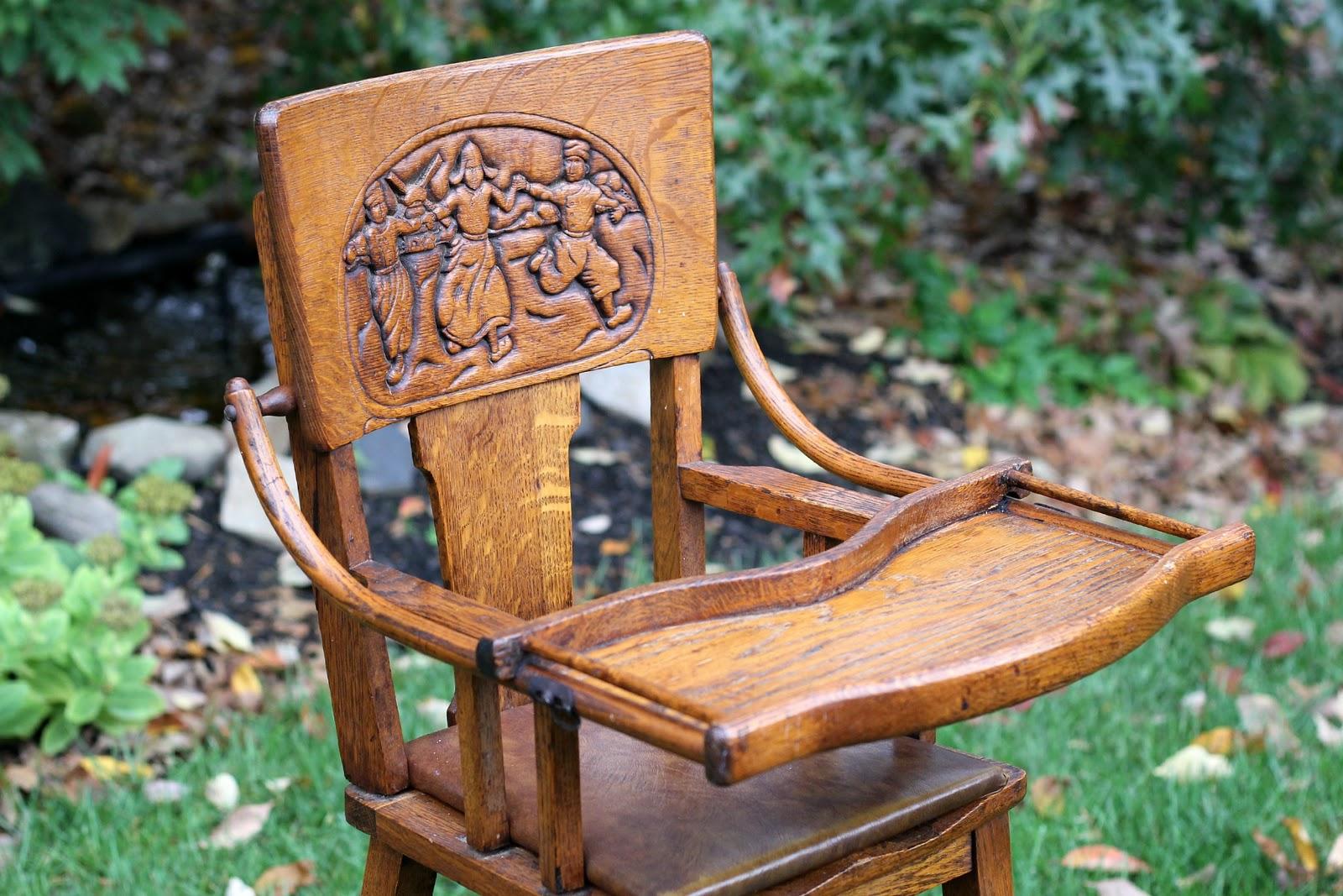 antique high chair grateful prayer thankful heart
